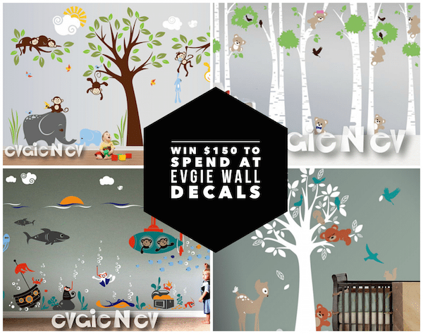 Giveaway - Win $150 To Spend At Evgie Wall Decals