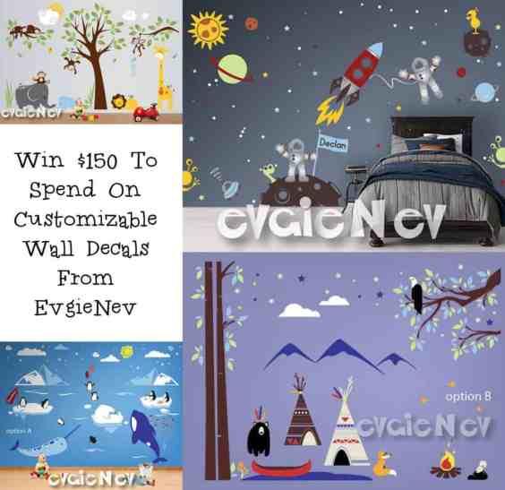 Evgie $150 Giveaway @Evgie #WallDecals