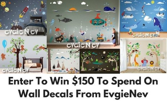 Giveaway $150 to Spend on Wall Decals from EvgieNev