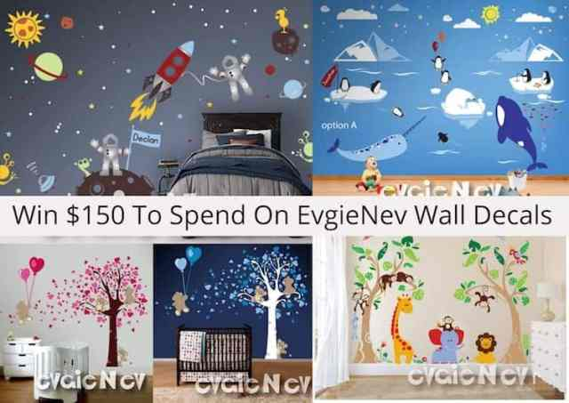 EvgieNev Wall Decals WORLDWIDE Giveaway Contest image
