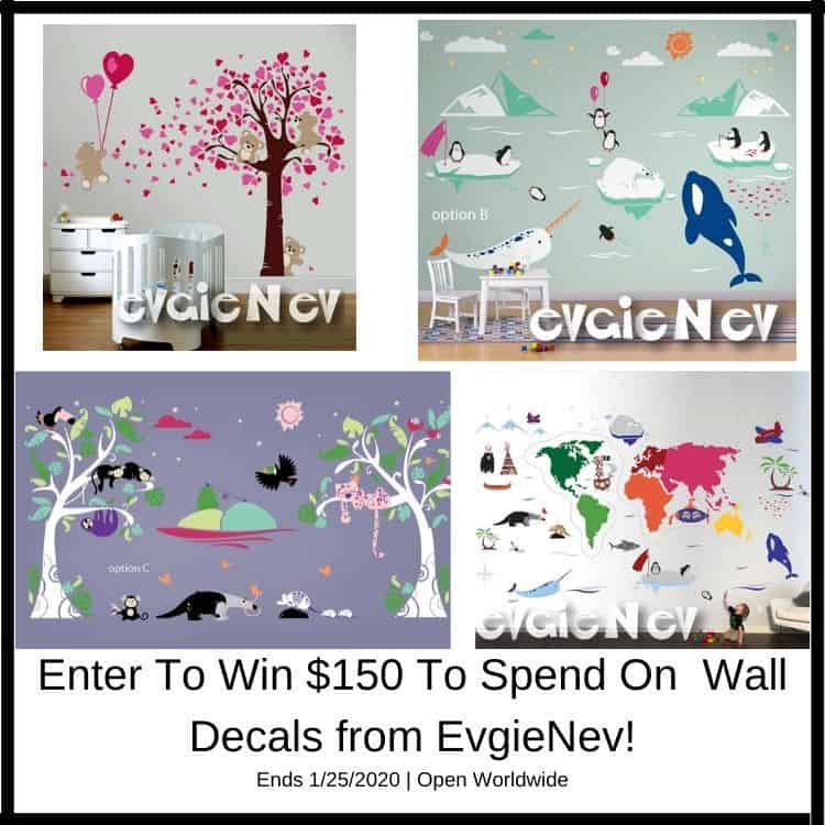 $150 EvgieNev Wall Decals Giveaway