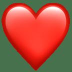 Smiley cœur rouge - Snapchat