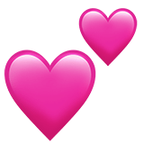 Smiley double cœurs roses - Snapchat
