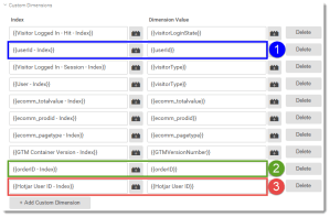 Google Analytics Tag setup with Hotjar Dimension