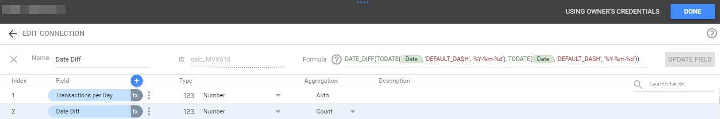 Data Studio DATE_DIFF formula