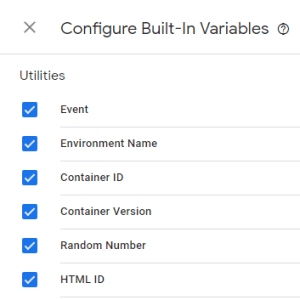 Built-In Utilities Variables - Google Tag Manager