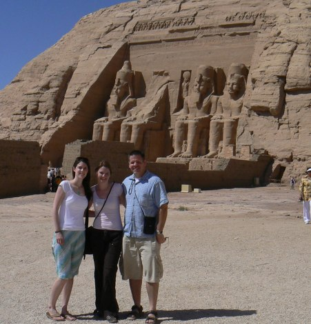 With friends at Abu Simbel in Egypt (2007)