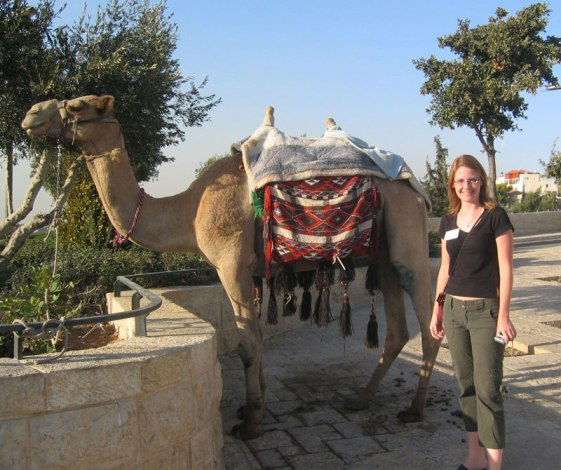 Hanging out with a camel in Jerusalem (2005)