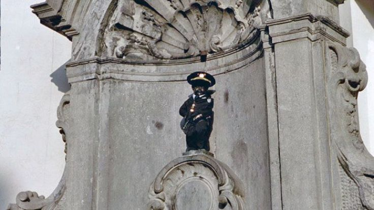 Manneken Pis is a top sight to see in Brussels