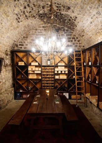 Ca di Pesa's wine cellar