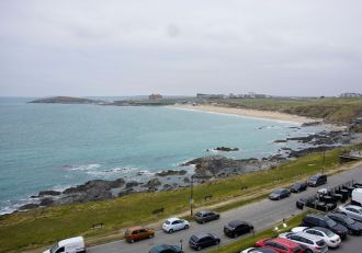 The view from our room at Fistral Beach Hotel