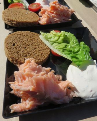 A plate of delicate smoked salmon