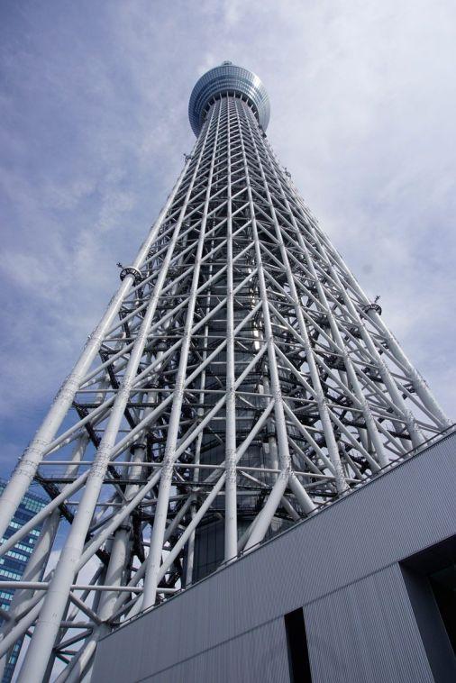Tokyo Sky Tree from the bottom