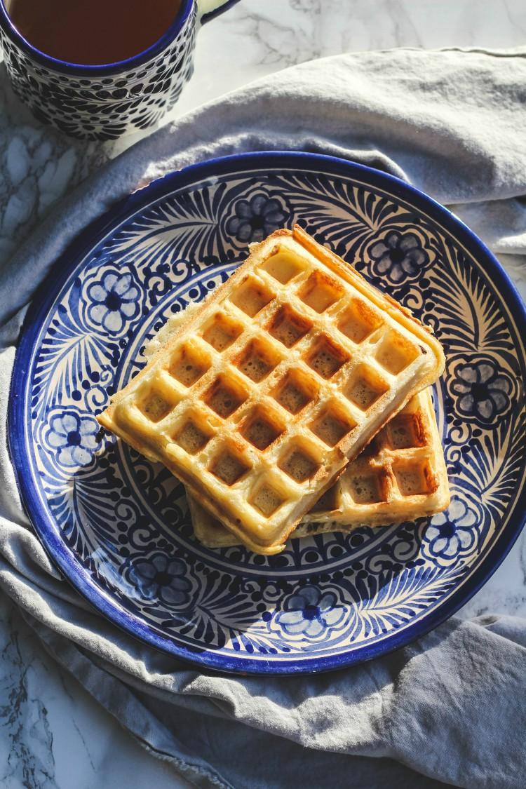 overhead image of marion cunningham's raised waffles