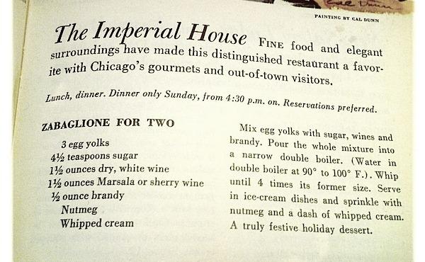 overhead image of vintage recipe