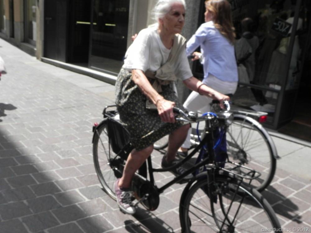 image of woman on a bike