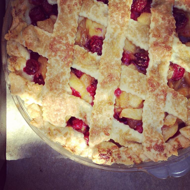 image of lattice topped apple pie