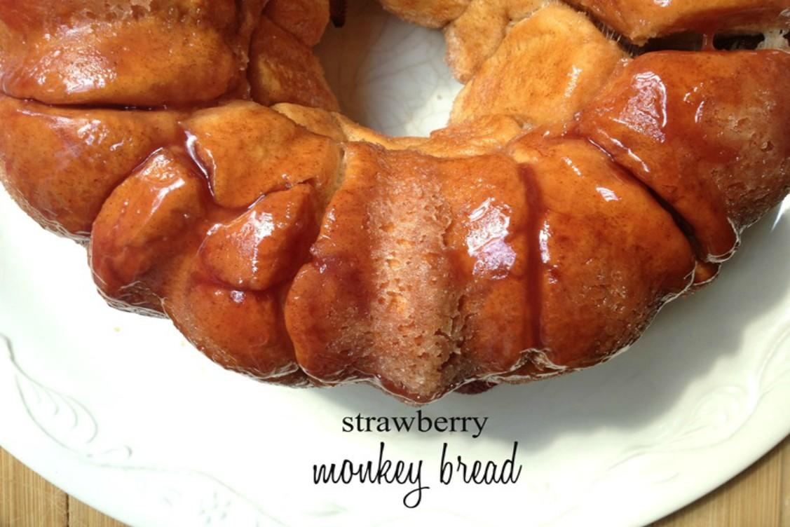 overhead image of glazed round bread