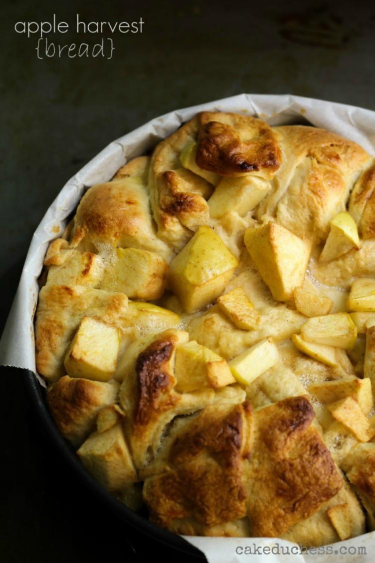 overhead image of apple harvest bread