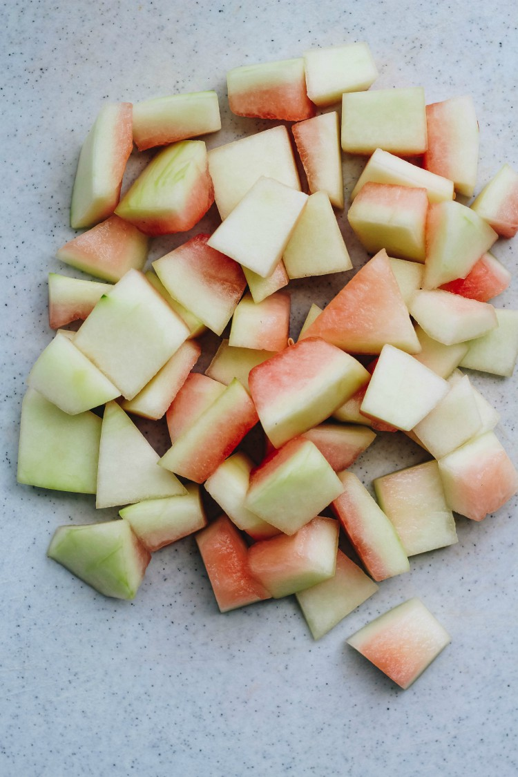 image of slices of watermelon rinds