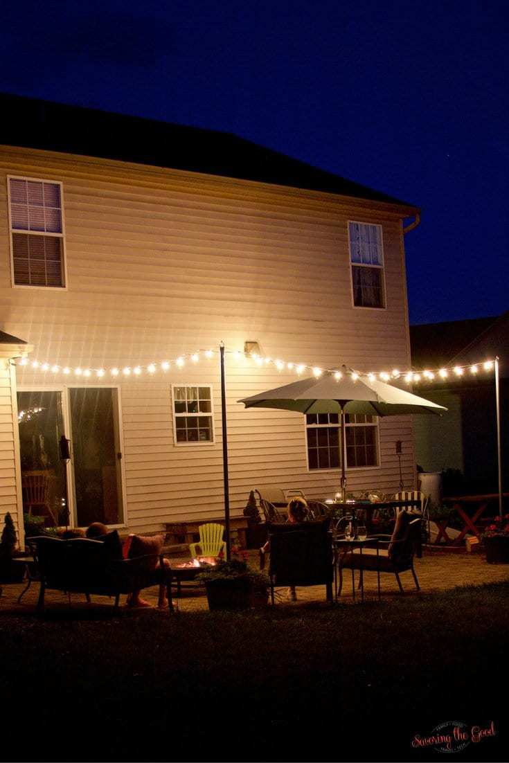 DIY Bistro Lights Bistro Light Patio Planters Step By