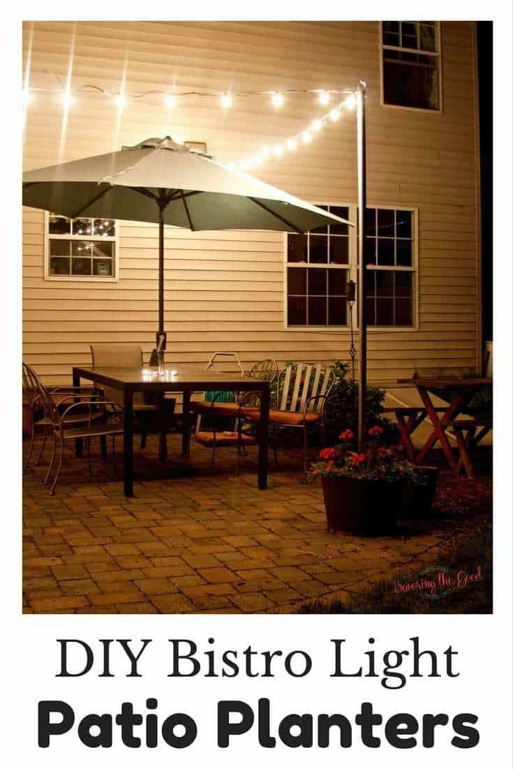diy bistro lights bistro light patio