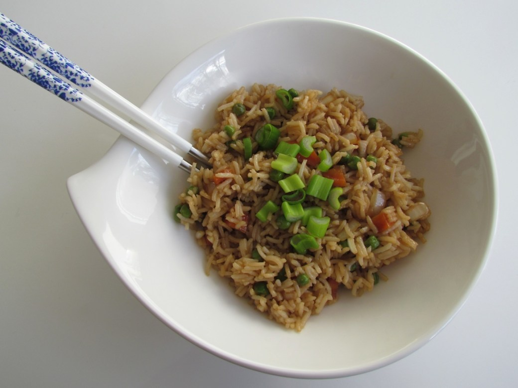 stir-fried vegetable rice