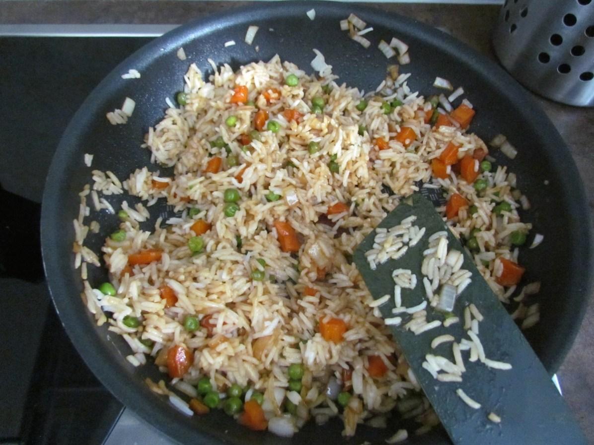 vegetable stir-fry rice