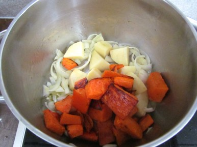 cuire de la soupe à la courge