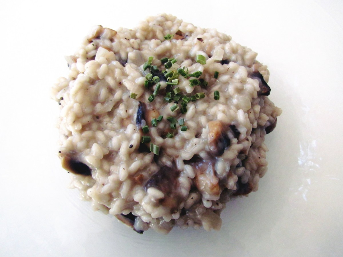 mushroom-and-truffle-oil-risotto