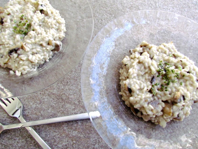risotto aux champignons et huile de truffe
