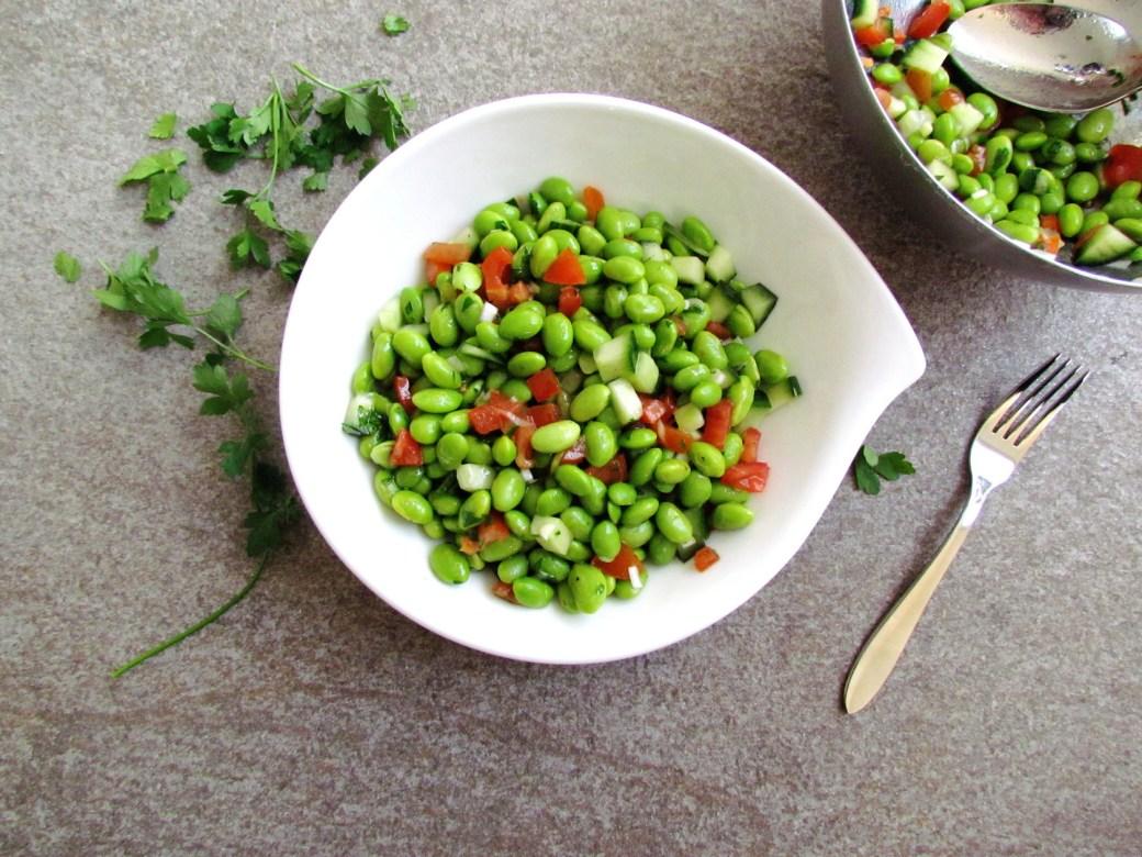 cumin-spiced edamame salad