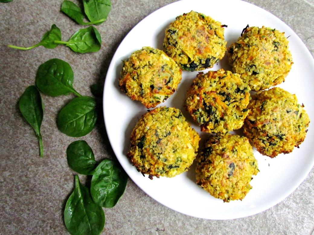 burgers de quinoa aux épinards et carottes