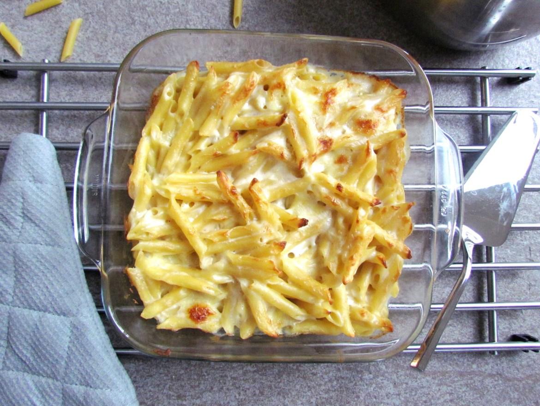 gratin de pâtes à la mozzarella