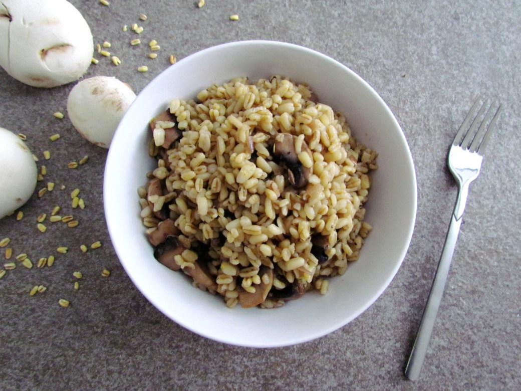 blé sauté aux champignons