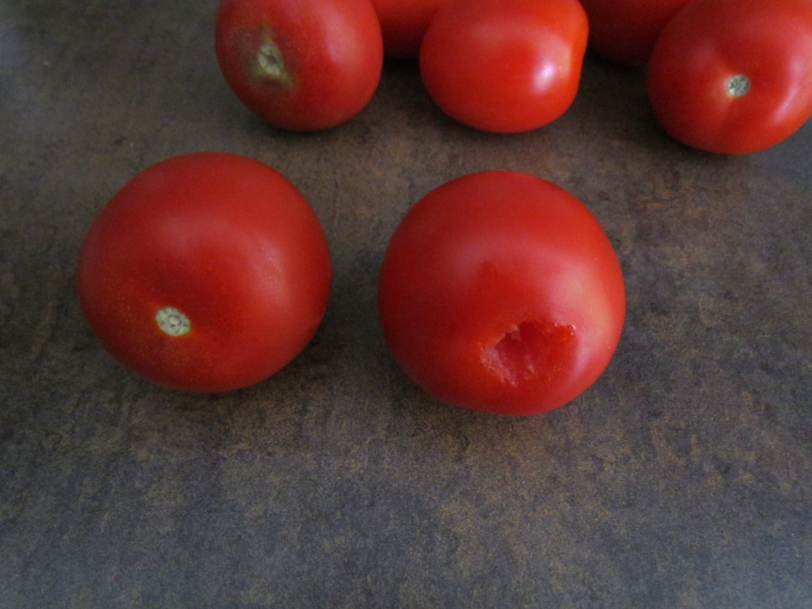 cored tomatoes