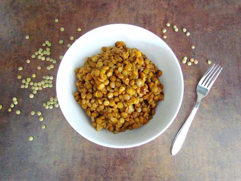 cumin spiced green lentils | www.savormania.com