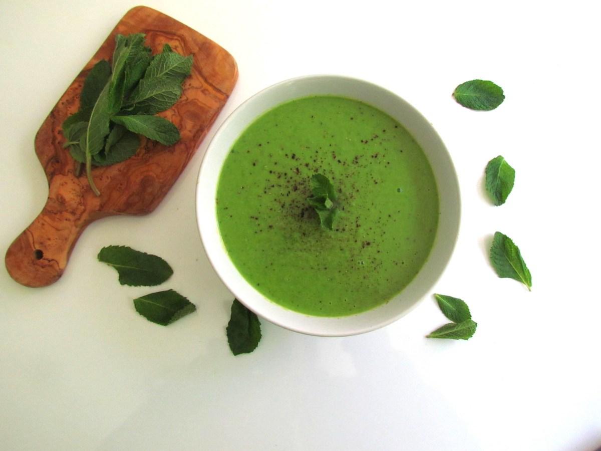 mint pea soup