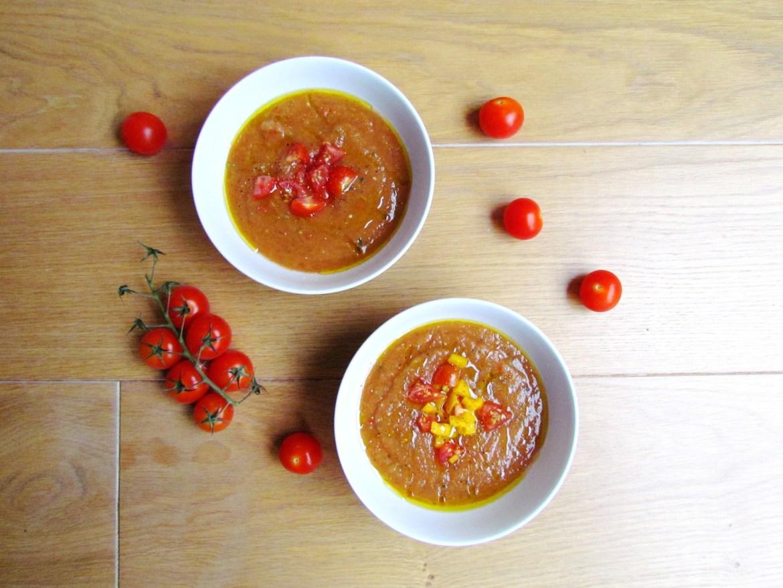 surprise ingredient tomato gazpacho | www.savormania.com