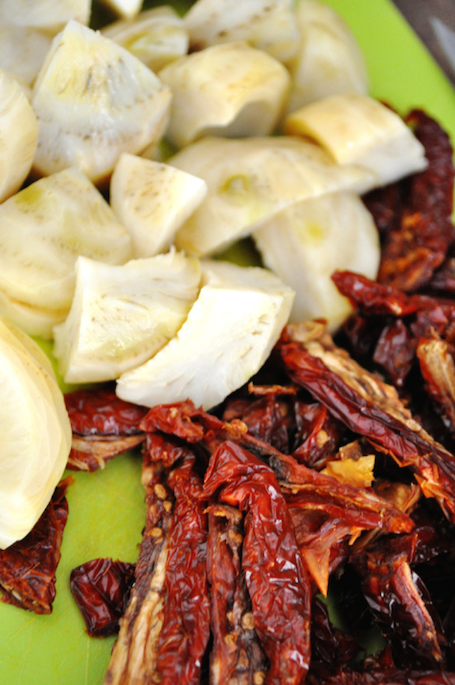 artichauts et tomates séchées | www.savormania.com