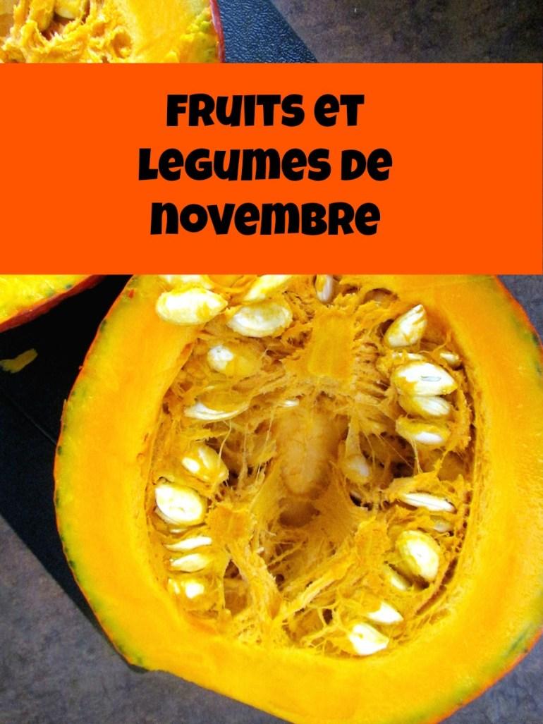 fruits et légumes de novembre | www.savormania.com