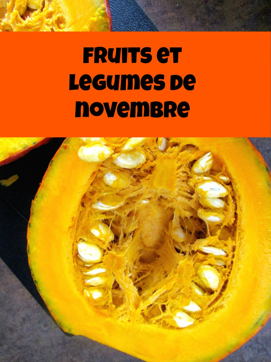 guide de fruits et légumes saisonniers: novembre