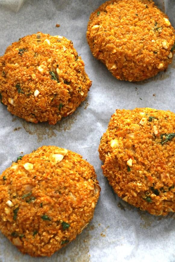 quinoa pumpkin burgers   www.savormania.com