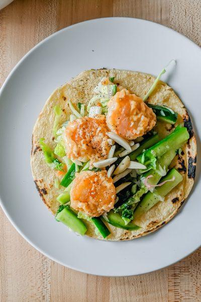 spicy shrimp taco