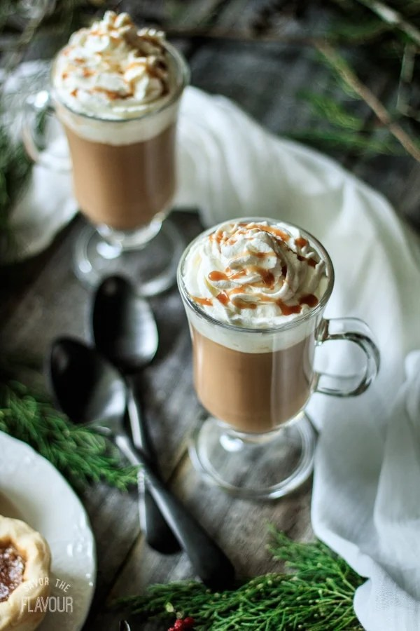 Salted Caramel Mocha (Better Than Starbucks!): an easy recipe for a hot, homemade coffee drink without espresso! homemade / gluten free / hot / DIY #saltedcaramel #coffeeshop #copycat #Starbucks #mocha