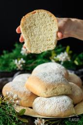 Waterford Blaas: an easy recipe for traditional Irish white bread rolls. These homemade rolls make amazing sandwiches, and taste good just with butter! Eat like the Irish and try them at breakfast. You'll love these crusty, pull apart buns with a soft center. | www.savortheflavour.com #stpatricksday #irish #blaa #breadrecipe #baking