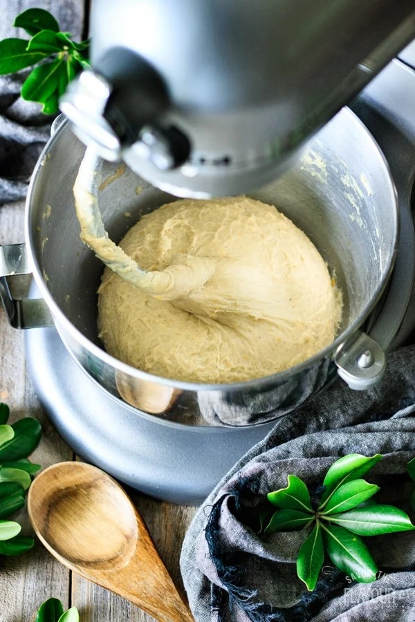 kneaded dough for Swedish cardamom buns