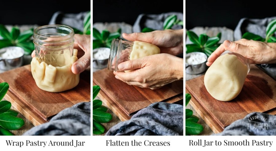 shaping pastry for chicken, bacon, and apricot pies