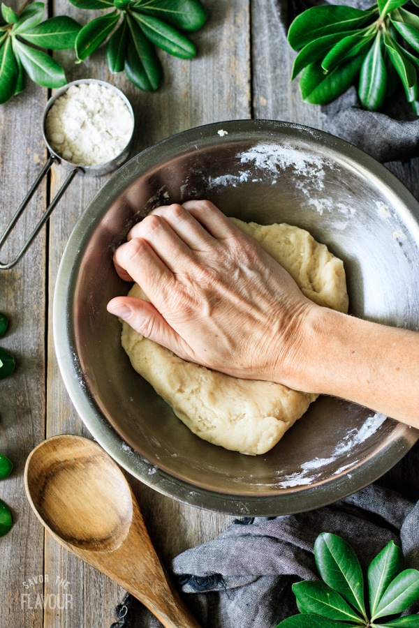 kneading hot water crust pastry
