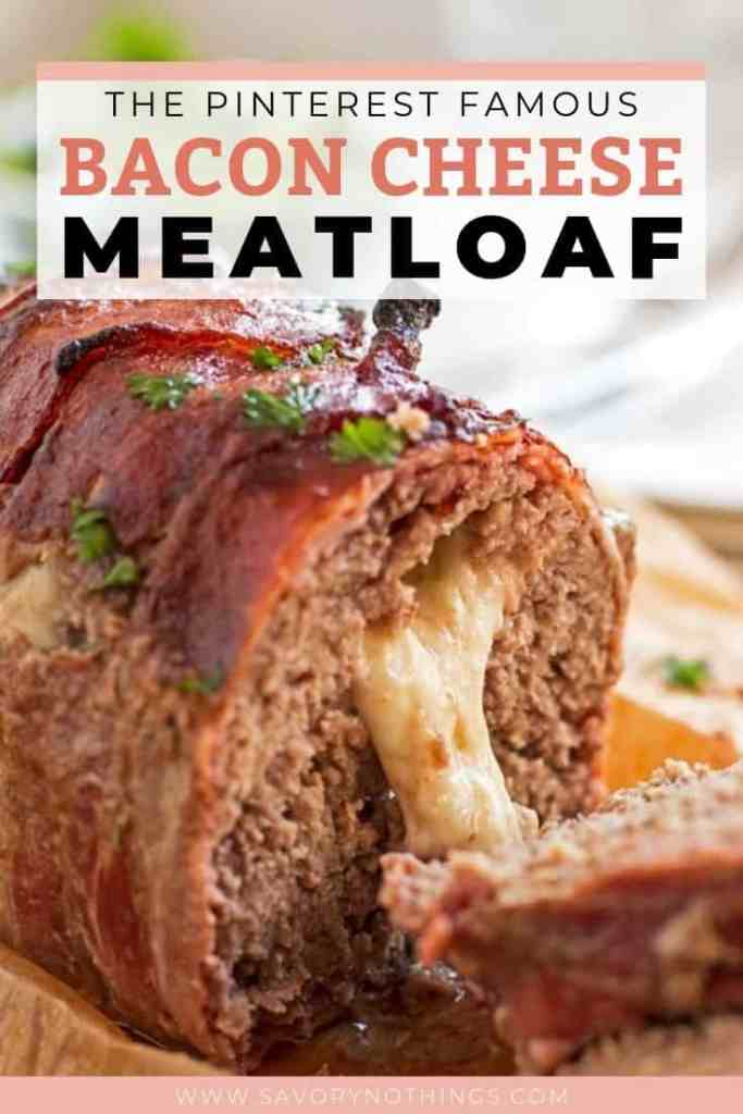 Bacon Cheese Meatloaf Pin 1